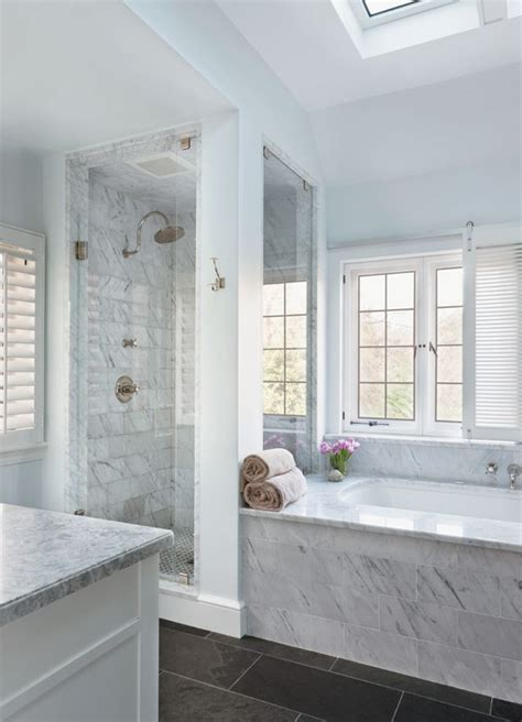 master bathroom ideas pinterest splendor in the bath white bathroom with dark floors