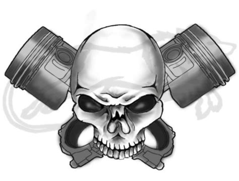 skull and piston tattoos commission skull and pistons by bloodyvire18 on deviantart