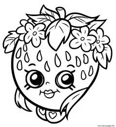 shopkins coloring pages free shopkins strawberry smile coloring pages printable