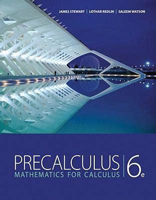 precalculus books precalculus by stewart lothar redlin saleem watson