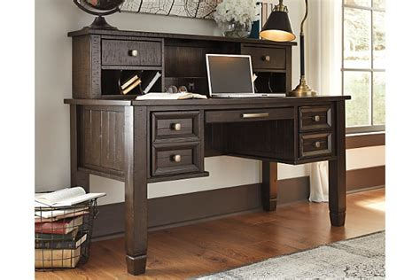 Home Office Desk Hutch Townser Home Office Desk With Hutch Furniture Homestore