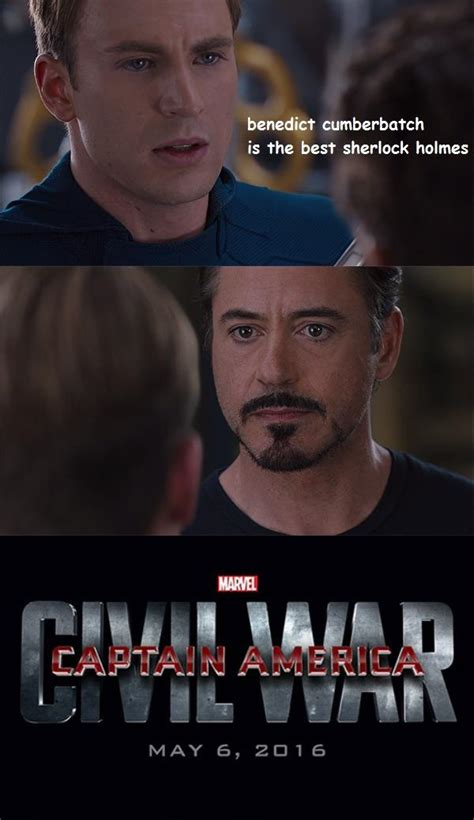 Meme Marvel - captain america civil war 4 pane captain america vs