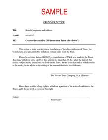 crummey letter template sle crummey letter the best letter sle