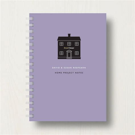 home planner personalised new home planner or notebook by designed