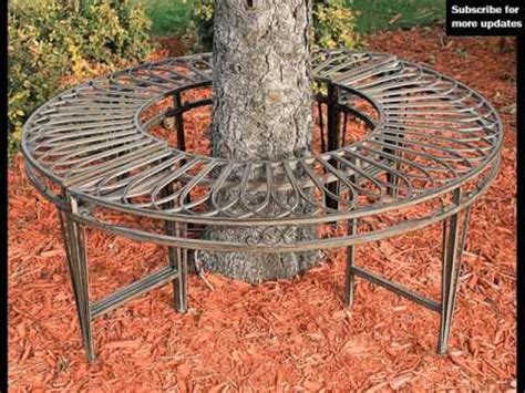 bench around a tree design tree benches around trees tree bench design ideas youtube