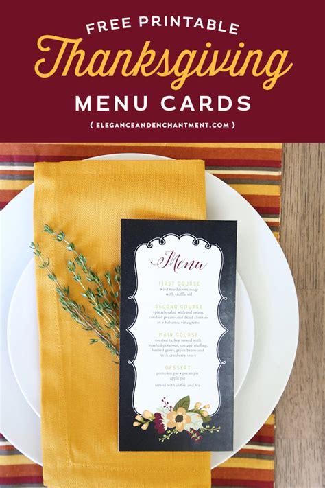 printable christmas menu cards printable thanksgiving menu cards