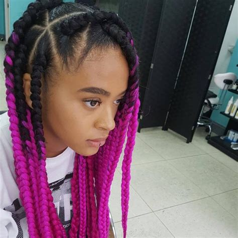 blonde pink black braids 60 superlative ideas for box braids styles the perfect