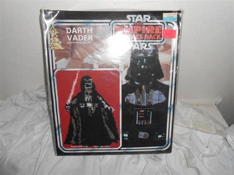 wars latch hook rug kits vintage 1980 unopened wars empire strikes back darth vader latch hook rug kit