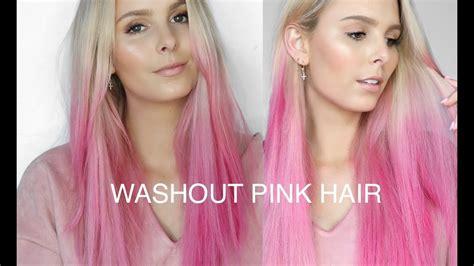 light pink temporary hair spray diy washout pink hair l oreal colorista spray