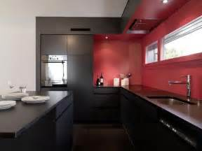 Red And Black Home Decor by Black And Red Kitchen Home Decorating Ideas