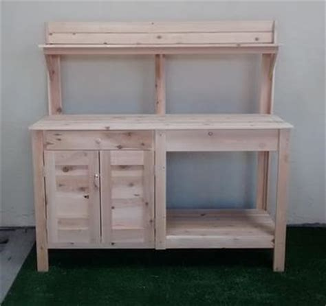 potting bench with cabinet custom raised gardens potting benches