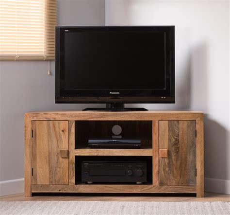 dakota light mango large corner tv unit casa bella