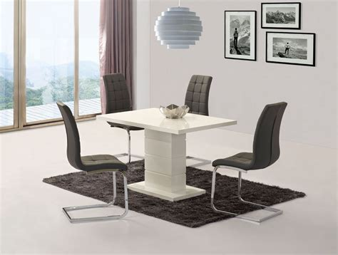 white gloss dining bench white high gloss dining set with 4 grey chairs