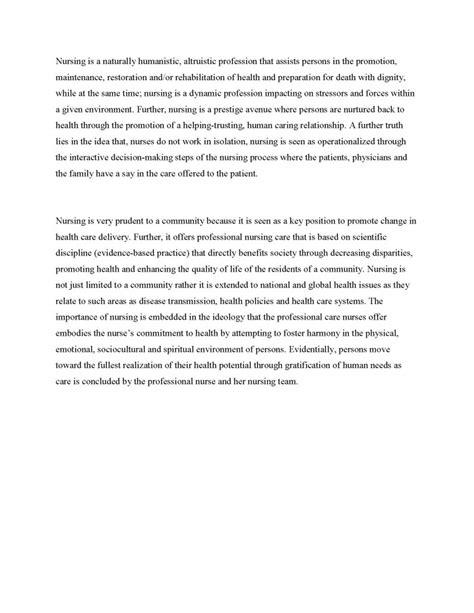 personal philosophy of nursing college essay argumentative essay on
