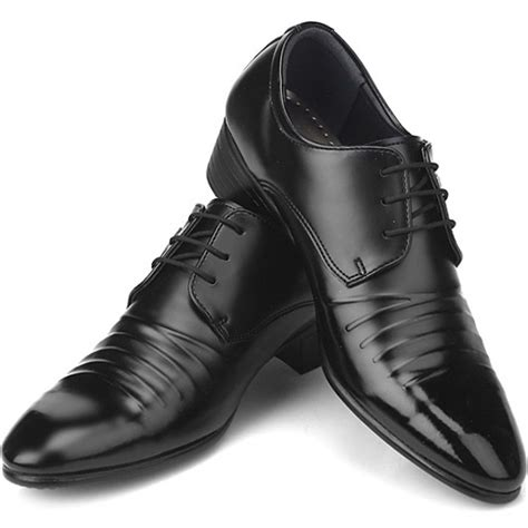 new italian style dress casual lace up mens shoes black ebay