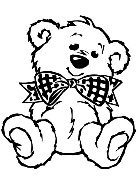 Teddy Bear Coloring Pages To Print Coloring Home Free Teddy Coloring Pages