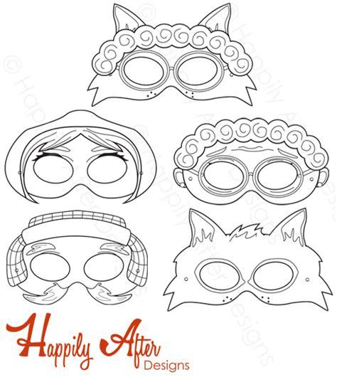 printable masks for little red riding hood little red riding hood printable masks