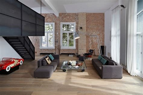 wohnung industrial style spacious apartment in industrial style