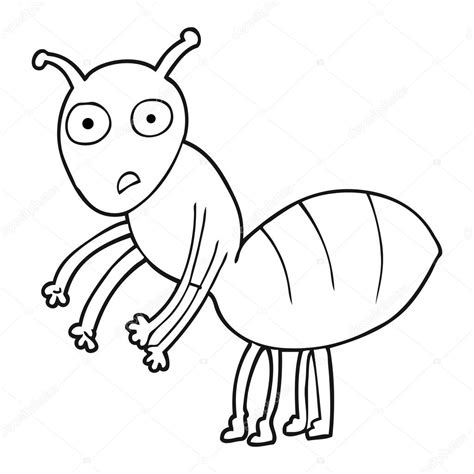 imagenes de verano blanco y negro hormiga de dibujos animados blanco y negro vector de