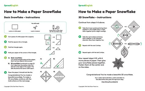 How Do U Make A Paper Snowflake - how to make a paper snowflake sprout
