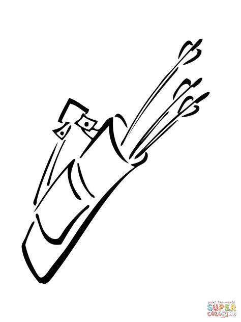 Quiver Coloring Page by Quiver With Arrows Coloring Page Free Printable Coloring