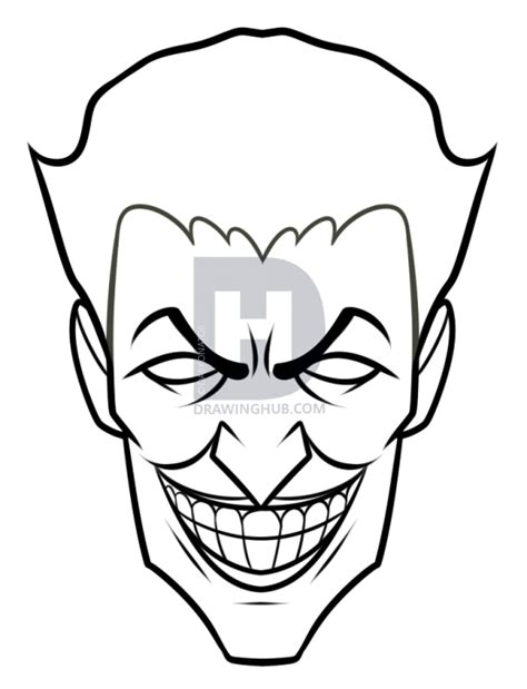 joker face coloring pages pictures easy joker drawings drawing art gallery