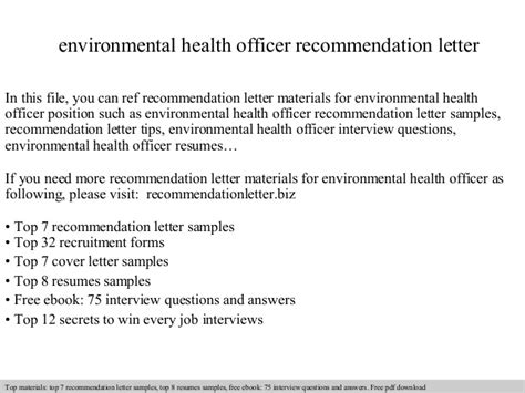 Letter Of Recommendation For Finance Assistant environmental health officer recommendation letter