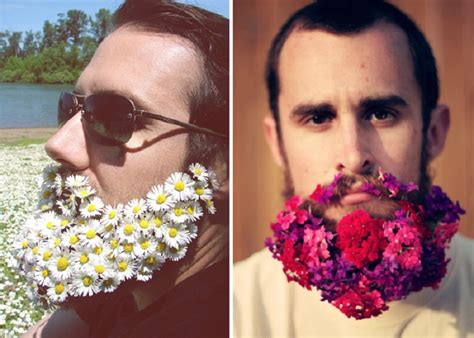 you can now decorate your hipster beard for christmas latest trend men with flowers in their beards