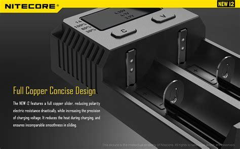 Nitecore Intellicharger Universal Battery Charger 1 Slot For Li Ion And Imr I1 nitecore intellicharger universal battery charger 2 slot for li ion and nimh new i2 black