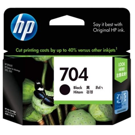 Hp 704 Color Original hp 704 black ink cartridge