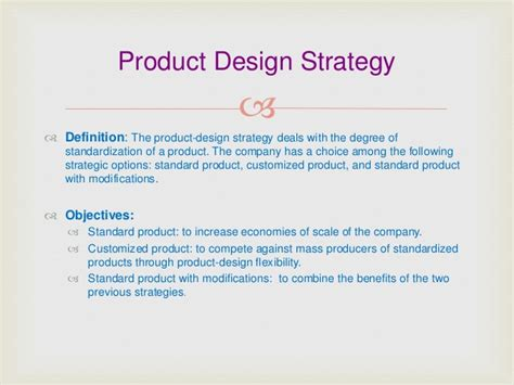 product layout strategy product designing strategy