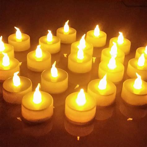 tea light candles 100 x flameless led tealight flickering tea light candles