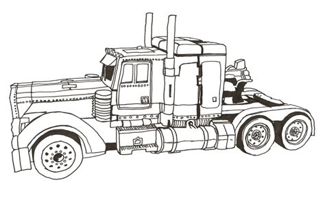 transformer truck coloring page image gallery optimus truck drawing