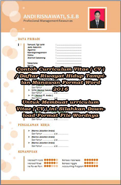 format cv narasumber contoh daftar riwayat hidup narasumber gamis murni