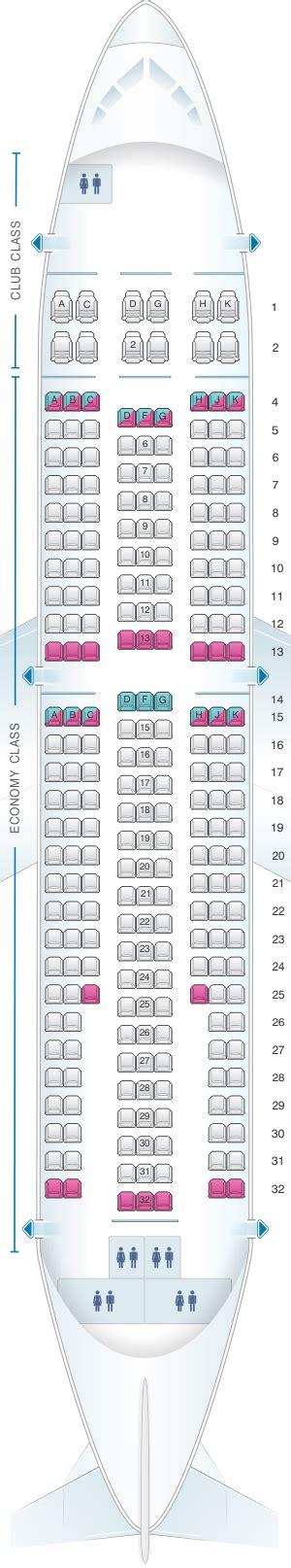 seat map air transat airbus a310 300 seatmaestro