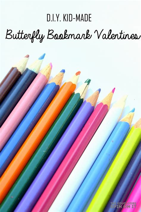 Make Valentines Card - the educators spin on it easy diy kid made valentines butterfly bookmarks