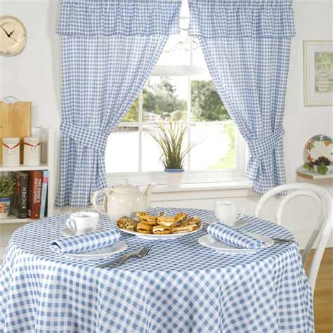 blue gingham kitchen curtains barclay molly gingham check kitchen pencil pleat curtains blue 46 x 54 inch linens limited