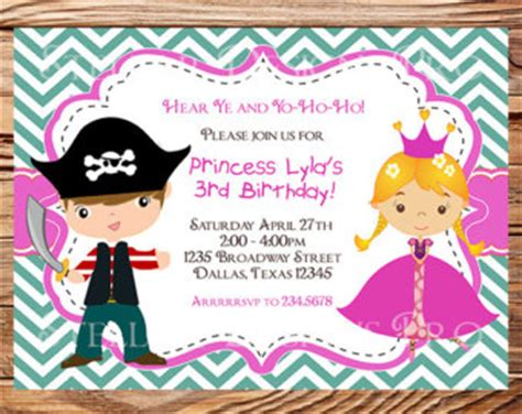 free princess and pirate invitation template pirate and princess invitation free