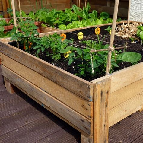 vegetable planter boxes container gardening diy planter box from pallets foxy folksy