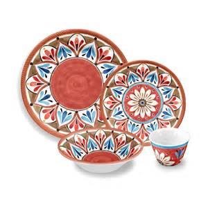 Paloma breeze melamine 16 piece dinnerware set by tarhong