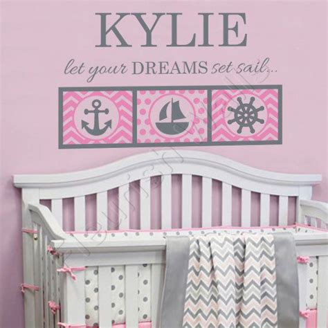 theme room names nautical girls room decal personalized name wall by
