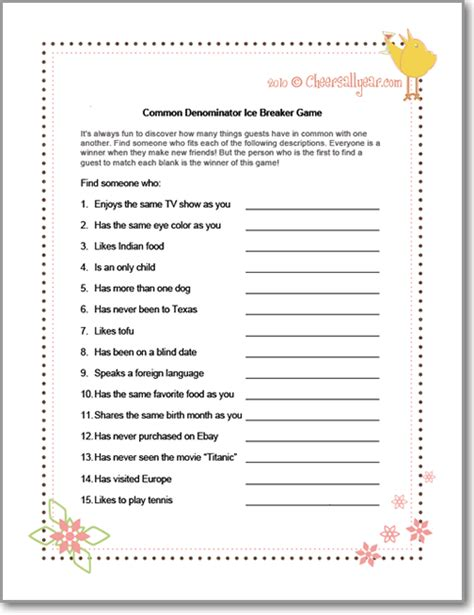 christmas ice breaker printables trivia common denominator breaker free printables and printable
