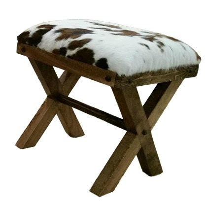Cowhide Benches - cowhide bench foot stool