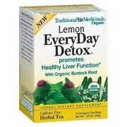 Traditional Medicinals Everyday Detox Tea Lemon by Lemon Everyday Detox 16 Bags 3 82ea From Traditional