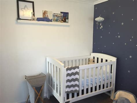Starry Nursery For A Much Awaited Baby Boy Project Nursery Nursery Decor For Boys