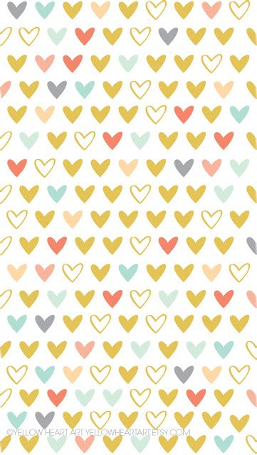 Yellow Heart Art: FREE Wallpapers! Yellow Hearts Wallpaper
