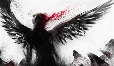 anime fallen angel boy free wallpaper i hd images