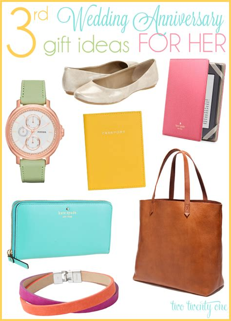 gift ideas for her third anniversary gift ideas