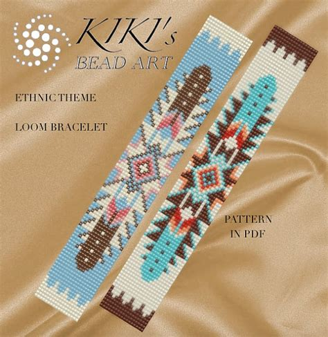 bead loom pattern ethnic theme american by
