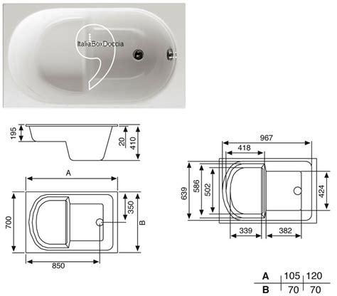 vasca da bagno 120 x 70 vasca con pannello 70 x 105 120 140 150 160 170 180 cm in